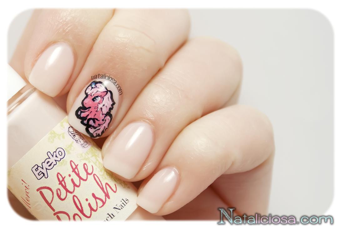 nail art de unicornio pintado a mano alzada manicure manicura