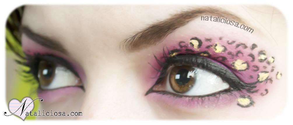 aquillaje de Leopardo Rosa - Animal Print Eye Makeup - Reto 16 Looks