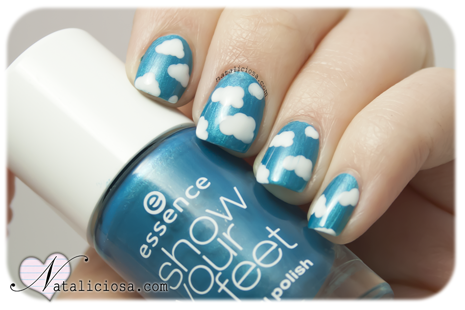 how to make cloud nails manicure design easy summer nails