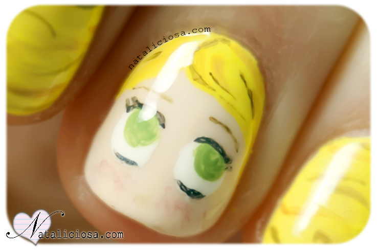 chibi disney princess princesses princesa nail art manicure