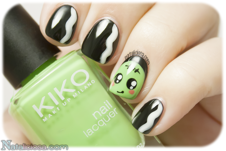 Ideas for this Halloween - Make a Frankie manicure!