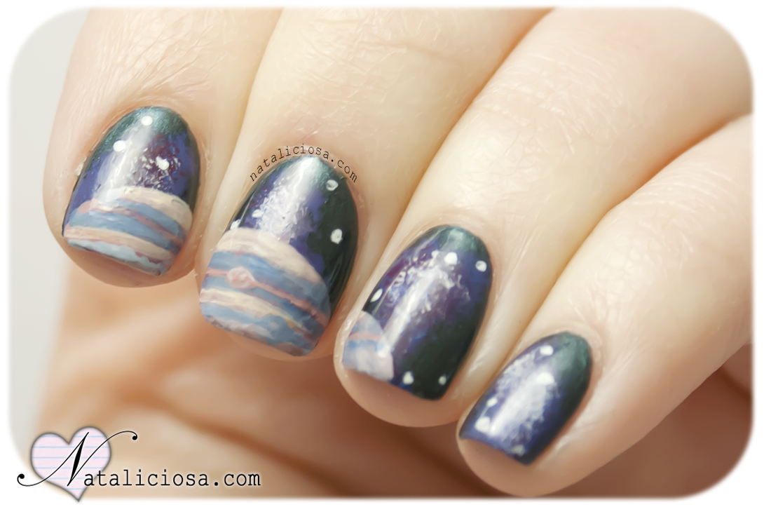 galaxy nails nail art space manicure