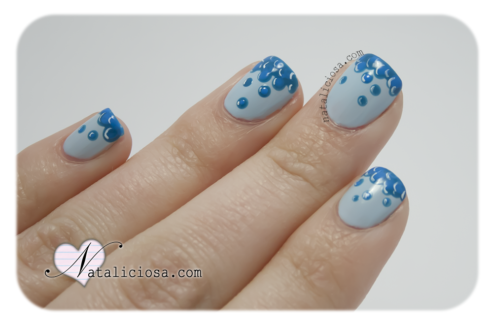 nail art design easy fast modern blue cute