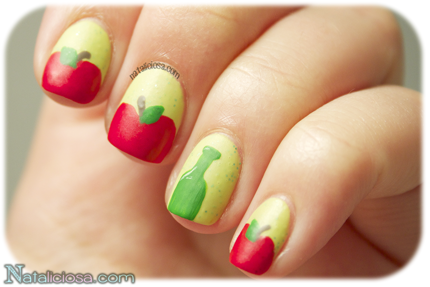 nail art tutorial, it's all about apples!