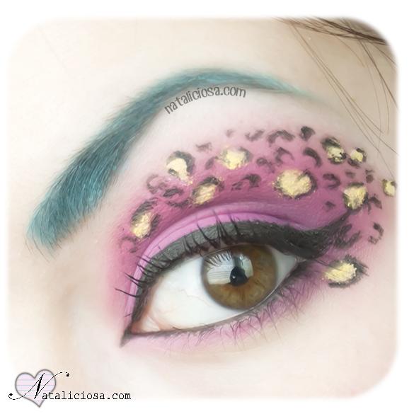 como hacerse ojos drag queen cejas azules estampado animal carnaval